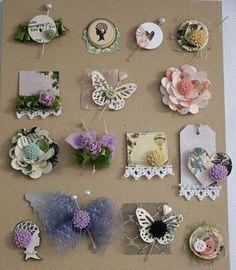 handmade embellishments for scrapbooking - Recherche Google