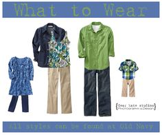What to Wear Wednesday Family Photo Wardrobe Ideas