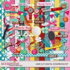 Hair Digital Scrapbooking Kit | ScrapVine