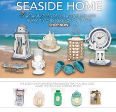 Nautical-Themed Accessories and Wonderful Scents to Enhance Your Homes - Coastal inspired decor and The Scent Shop at over 50% off. Hurry! It's only here for one week.     http://marleneflowers.athome.com/browse/flash-sales.html