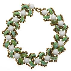 Tutorial - How to: Water Lily Bracelet in Green | Beadaholique