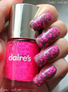 Gelic' nail art: Clarie's - Junk, swatch and layering