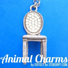 miniature-realistic-home-decor-chair-necklace-in-silver $2.99 #chairs #furniture #antiques #pendants #necklaces