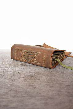 Ode. Leather Journal Handstitched Natural by odelae on Etsy