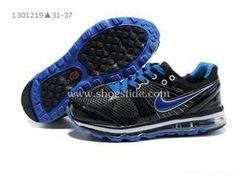 90147d60932 Cheap Kid's Nike Air Max 2009 Shoes Black/Blue For Sale from official Nike  Shop.