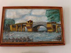 "Mary Aikens | ""Old Dog River Bridge"" | ArtWanted.com"
