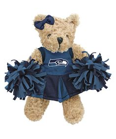 Take a look at this Seattle Seahawks Cheerleader Bear Plush Toy by Hunter on #zulily today!