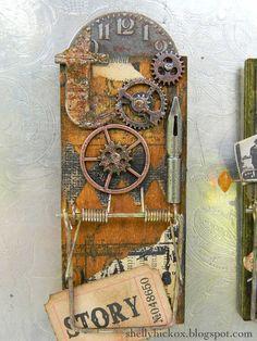 Altered mousetraps; Tim Holtz; vintage