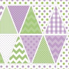 Tissu Holiday Banners Purple x 60cm