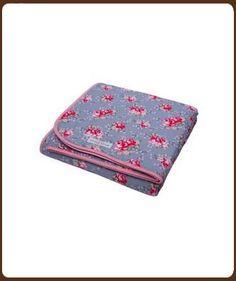 Klein Design Hoorn - Little Dutch: Ledikant deken 110 x 150 cm grijs met bloemen 42,50 euro cfr ook kindercompagnie