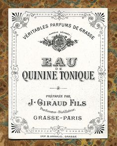 Antique Vintage French Apothecary Perfume Label 5