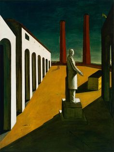 The Enigma of a Day by Georgio de Chirico, 1914. ...