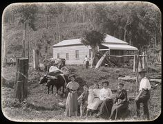 Cultural Collections at the University of Newcastle Library. Photo of A settler's home, N. This link has other historical photos. Vintage Photographs, Vintage Photos, Botany Bay, Australia Day, Australian Homes, Historical Pictures, Old West, Tasmania, Newcastle