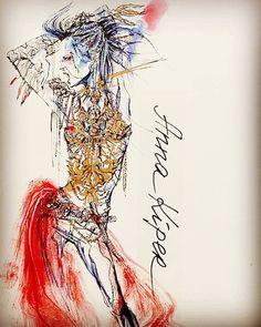 Anna Kiper #mixed #media #fashion #illustration #art