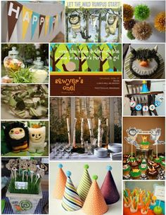 Where the Wild Things Are party inspiration boards via DailyUpdateInteriorHouseDesign