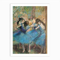 Shop for Edgar Degas 'Dancers in Blue' Gallery-Wrapped Canvas Art. Get free delivery On EVERYTHING* Overstock - Your Online Art Gallery Store! Get in rewards with Club O! Edgar Degas, Painting Frames, Painting Prints, Art Prints, Spray Painting, Painting Wallpaper, Renoir, Degas Paintings, Degas Drawings
