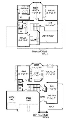 1000 images about floor plans on pinterest two story Two story house plans with loft