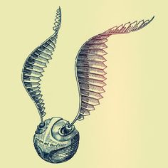 Golden snitch by Denis Pakowacz, via Behance. Would be a great tattoo. Shoulder blade?