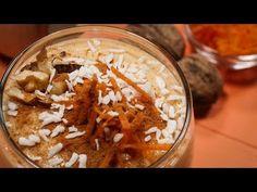 Smoothie cu morcovi, banane și nuci prăjite - YouTube Hummus, Smoothie, Vegan, Ethnic Recipes, Youtube, Food, Banana, Essen, Smoothies