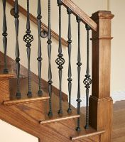 Iron banister with dark hardwood balusters photo gallery h new ornamental balusters available at s homes solutioingenieria Image collections