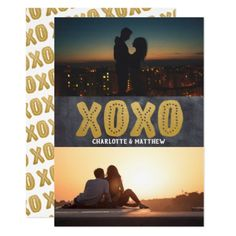 Personalized XOXO Love 2 Photo Card - create your own gifts personalize cyo custom