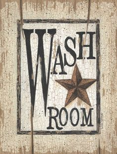 Wash Room by Linda Spivey Country Bathroom in Art Print Framed Picture for the half bath Primitive Signs, Primitive Homes, Primitive Crafts, Country Primitive, Americana Crafts, Country Sampler, Prim Decor, Country Decor, Primitive Decorations