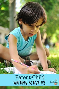 Parent  Child Writing Activities - great ideas for summer