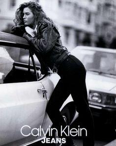 """Carre Otis  -  """"Calvin Klein"""" ad, 1992"""