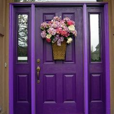The Color Purple for a front door. Awesome. I would change the wreath though.