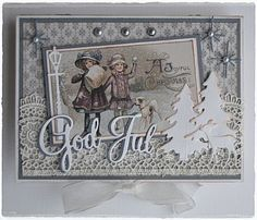 Welcome: Christmas card in 3d Cards, Pop Up Cards, Cool Cards, Xmas Cards, Christmas Scrapbook Layouts, Scrapbooking Layouts, Scrapbook Cards, Vintage Christmas Cards, Vintage Cards
