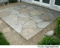 Want a Patio? Try Stamped Concrete as a Low-Cost Alternative   AtHomeSense.com