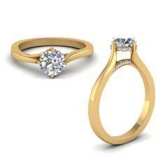 Shop swirl prong round diamond engagement ring in yellow gold at Fascinating Diamonds. This diamond engagement ring is designed in Pave setting Round Diamond Ring, Round Diamond Engagement Rings, Best Diamond, Round Diamonds, Cheap Jewelry, Unique Jewelry, Cheap Engagement Rings, Diamond Shop, Discount Jewelry