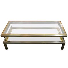1960 S Belgian Brass And Nickel Vitrine Coffee Table Top Slides Halfway Open To Provide Vitrine Display Casecoffee