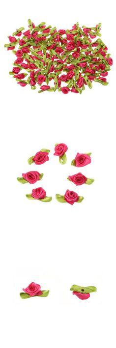 100PCS Handmade Mini Satin Ribbon Rose-1.38