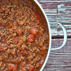 Homemade Spaghetti Sauce. A home made tomato and meat sauce that you can have on your table in under an hour!
