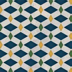 Zelij Diamonds Moroccan Stencil