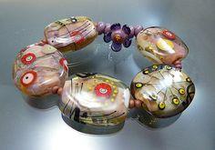 Melanie Moertel Lampwork Beads  Soft pink glass by melaniemoertel, $165.00