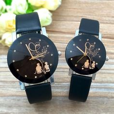 c13b0413316 New Relogio Couple Watches Student Couple Stylish Spire Glass Belt Quartz  Watch Men s Watches Women s Watches