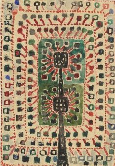 Ann-Mari Forsberg (1916–1992) - Design for rya rug Hoppa hage AB Märta Måås-Fjetterström