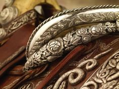 Detail on one of the last saddles owned by Pancho Villa