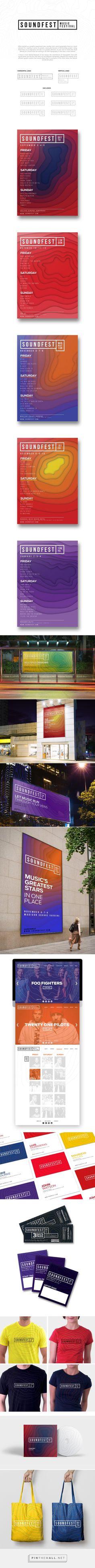 SOUNDFEST Music Festival visual identity on Behance - created via https://pinthemall.net