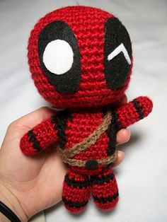 Marvel's Deadpool Doll - free crochet pattern by Chelsea Thomas. Facebook login required.