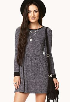 Marled Fit & Flare Dress | FOREVER21 - 2000074371