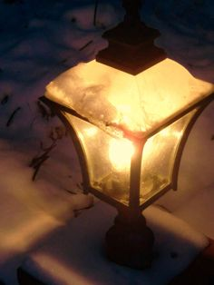 Warm LED light bulb light up the  snow. www.cobledbulb.com