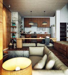 mustangblood:house-of-gnar:  Modern Loft Home  hnnnng