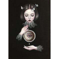 Surrealism Painting, Pop Surrealism, Eye Painting, Scary Art, Arte Horror, Lowbrow Art, Flash Art, Arte Pop, Creepy Cute
