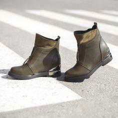 Что лучше подчеркнет теплое осеннее настроение, как не комфортные ботинки  болотного цвета  Особенно, a7c588d4051