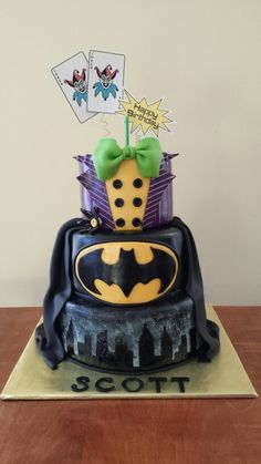 Batman and Joker cake cakes Pinterest Joker cake Cake and