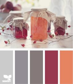 preserved hues palette. this seems perfect for the fall - a great combo of greys and rich colours