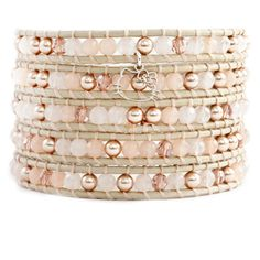Chan Luu - HL x CL | Rose Mix Wrap Bracelet with Hello Kitty Charm on Petal Leather, $170.00 (http://www.chanluu.com/wrap-bracelets/hl-x-cl-rose-mix-wrap-bracelet-with-hello-kitty-charm-on-petal-leather/)